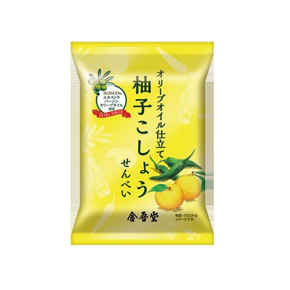 36g オリーブオイル仕立て<br />柚子こしょうせんべい